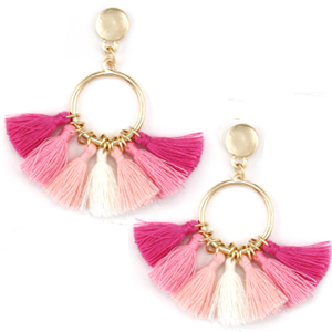 Fan-tastic Tassels - Mix Pink