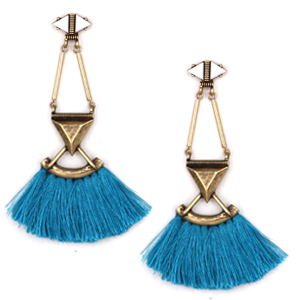 Beaded Tassel - Teal