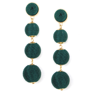 Glitzy Bubbles Earrings - Green