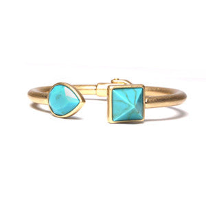 Jeweled Leaf - Aqua