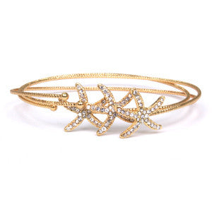Starfish Bangle - Silver