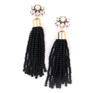 Crystal Dangle Fringe Ear Jacket