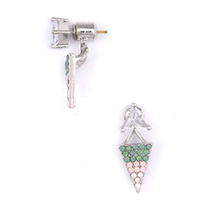 Dotty Dot Ear Jackets - Green