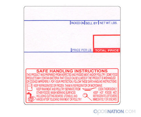 Case of Safe Handling Labels | 58mm x 60mm