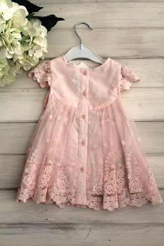Bebe by Minihaha Lace Yoke Girls Dress/ Flower Girl Dress