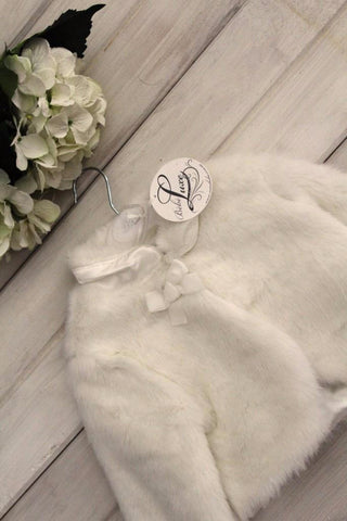 Bebe by Minihaha Fur Jacket with Bow