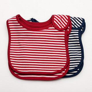 Newport Stripe Bib 2 pack