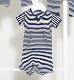 French Stripe Red or Navy Shortsleeve Jumpsuit