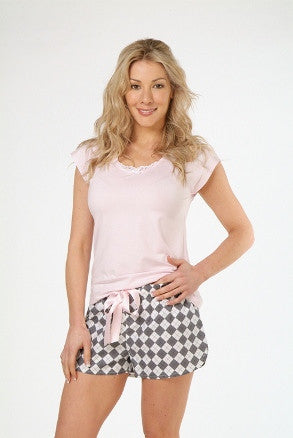 Billy Dream Ascot Top & Short PJ Set
