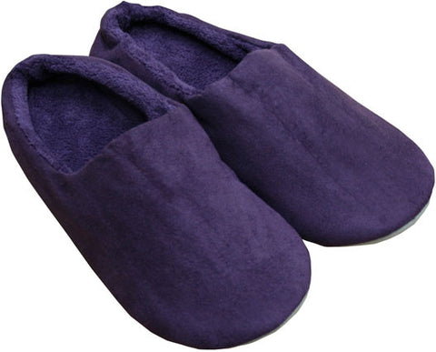 Faux Suede/ Microplush Slippers Purple