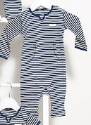 French Stripe Red or Navy Long Sleeve Jumpsuit