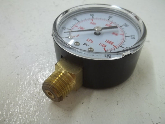 "4FLU2 PRESSURE GAUGE 0-160PSI 2"" *NEW IN BOX*"