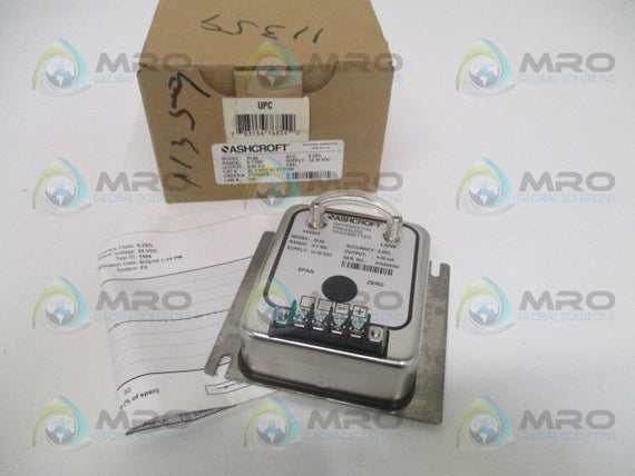 "ASHCROFT XLdp XL3MB242STP1IW DIFF. PRESSURE TRANSMITTER 0.1""WC *NEW IN BOX*"