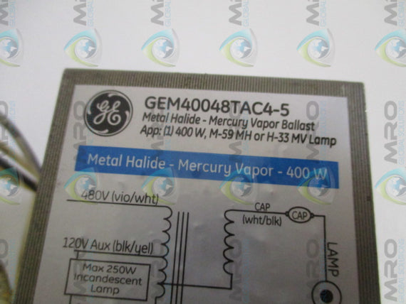 GENERAL ELECTRIC GEM40048TAC4-5 BALLAST REPLACEMENT KIT *NEW IN BOX*
