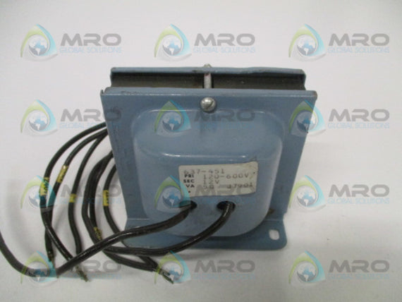 JEFFERSON ELECTRIC 637-451 TRANSFORMER 120-600V *NEW NO BOX*