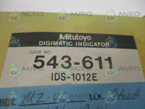 MITUTOYO IDS-1012E 543-611 DIGIMATIC INDICATOR *NEW IN BOX*