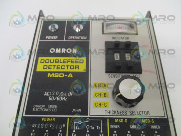 OMRON MSD-A DOUBLEFEED DETECTOR 120/240VAC *USED*