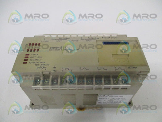 OMRON S3D-CC PHOTOELECTRIC SENSOR CONTROLLER *USED*