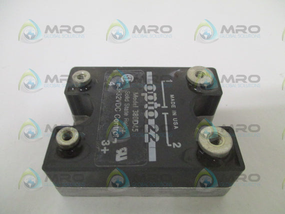 OPTO 22 380D45 SOLID STATE RELAY 3-32VDC *USED*