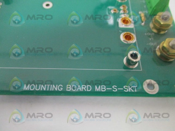 RO ASSOCIATES MB-S-SKT MOUTING BOARD *USED*