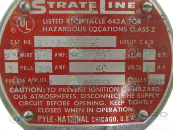 PYLE-NATIONAL STRATE LINE ERRA-21532 RECEPTACLE *NEW NO BOX*