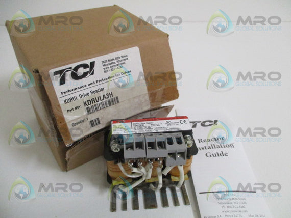 TRANSCOIL KDRULA3H DRIVE REACTOR *NEW IN BOX*