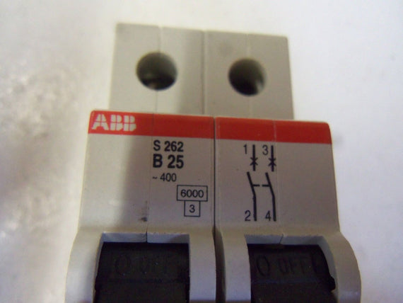 ABB S262-B25 CIRCUIT BREAKER 25A *USED*