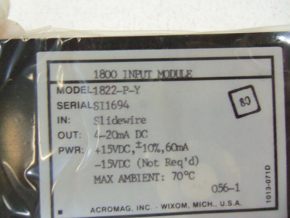 ACROMAG INPUT MODULE 1822-P-Y *NEW IN BOX*