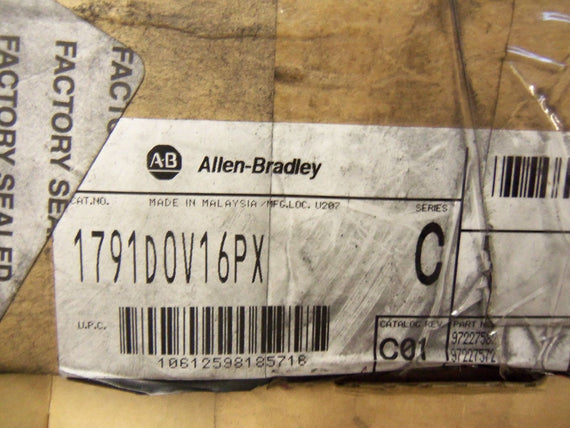 ALLEN BRADLEY 1791D-0V16PX SERIES C *NEW IN BOX*
