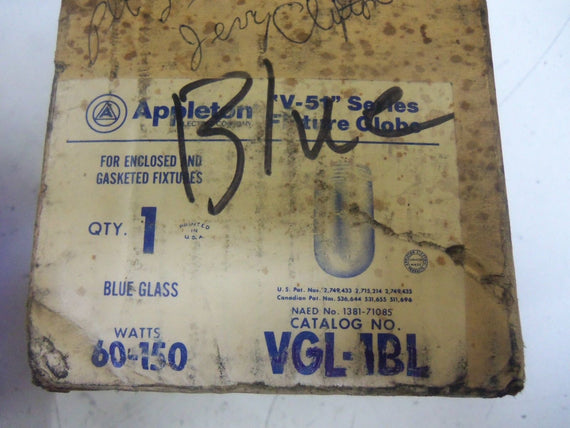 APPLETON VGL-1BL *NEW IN  A BOX*