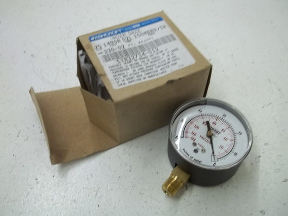 ASHCROFT 1490A02L150MBRV/IW VACUUM GAUGE *NEW IN BOX*