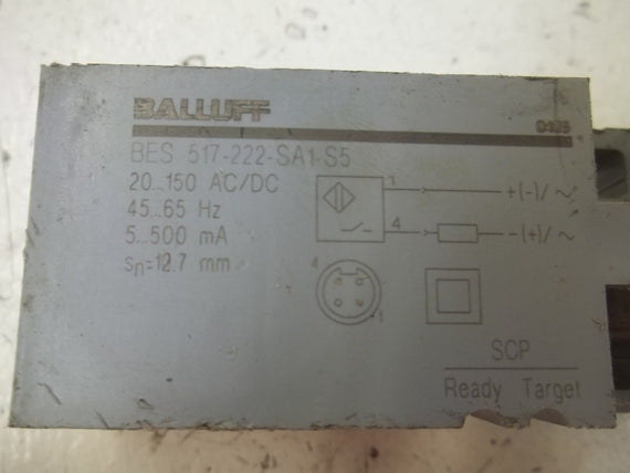 BALLUFF BES517-222-SA1-S5 PROXIMITY SWITCH (AS PICTURED)*USED*