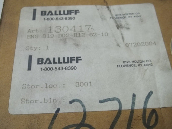 BALLUFF BNS-819-D02-RI2-62 *NEW IN BOX*