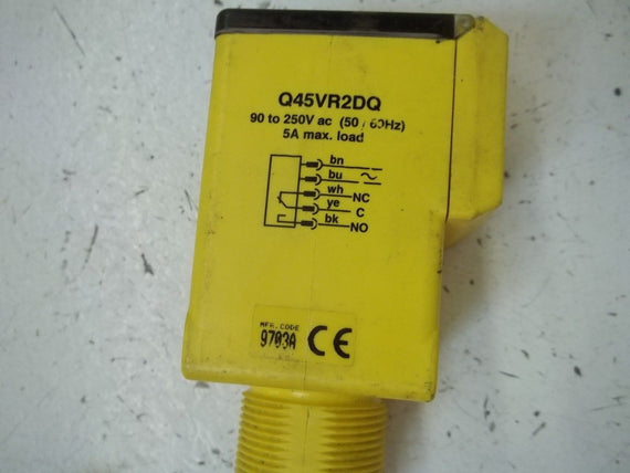 BANNER ENGINEERING Q45VR2DQ ELECTRICMECHANICAL RELAY *USED*