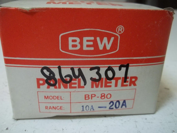 BEW BP-80 PANEL METER 0-20 (AS PICTURED) *NEW IN BOX*