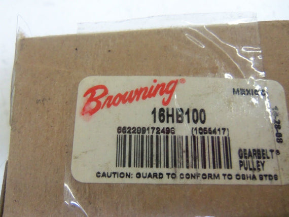 "BROWNING 1055417 16HB100 TIMING BELT PULLEY 5/8"" *NEW IN BOX*"