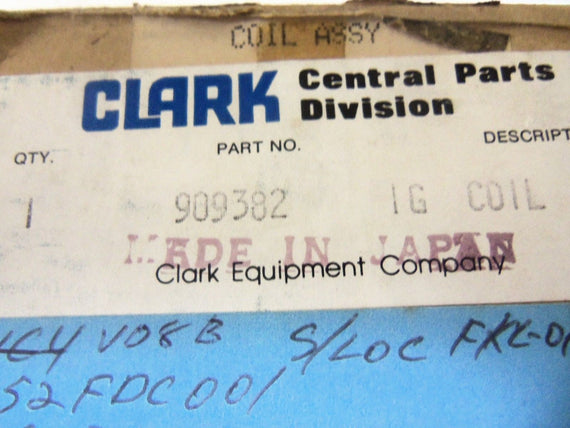 CLARK 909382 RESISTOR *NEW IN BOX*