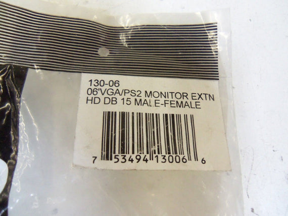 COMPUTER CABLE 130-06 *NEW IN FACTORY BAG*