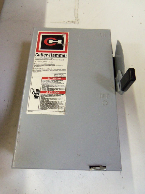 CUTLER HAMMER DG221NGB GENERAL DUTY SAFETY SWITCH *NEW NO BOX*