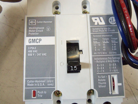 CUTLER HAMMER GMCP015E0CA3 *NEW IN BOX*