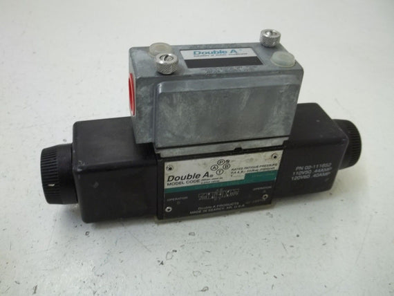 DOUBLE A QF-3-FFX-10D1-TSPL SOLENOID VALVE *USED*