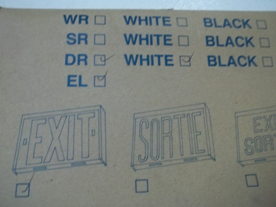 DUAL-LITE DR-EL EXIT SIGN WHITE *NEW IN BOX*