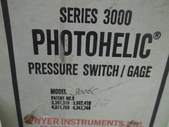 DWYER 3006C PRESSURE SWITCH/GAGE 0-6 *NEW IN BOX*