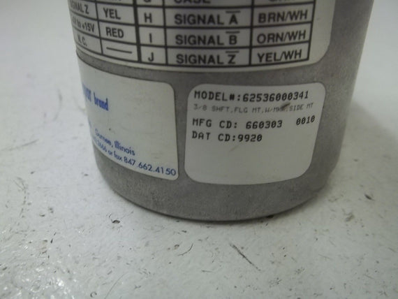 DYNAPAR 62536000341 ENCODER *USED*