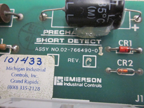EMERSON 02-766 490-01 REV.C PRE CHARGE SHURT DETECT BOARD *USED*