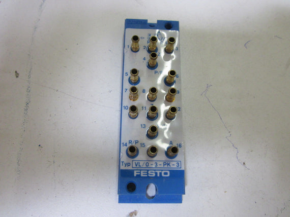 FESTO VL/0-3-PK-3 PNEUMATIC VALVE (AS PICTURED) *NEW NO BOX*