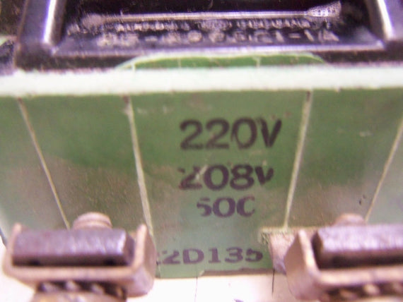 GENERAL ELECTRIC 22D135G3 STARTER CONTACTOR COIL 220V *USED*