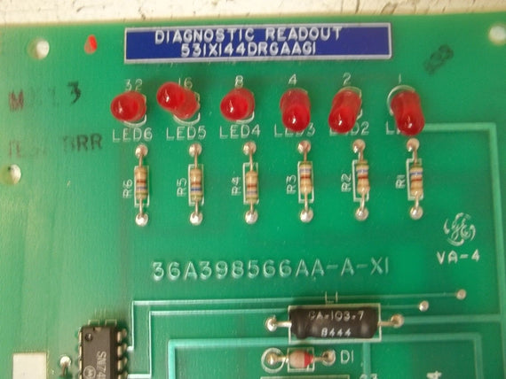 GENERAL ELECTRIC 531X144DRGAAG1 PC BOARD DIAGNOSTIC *USED*