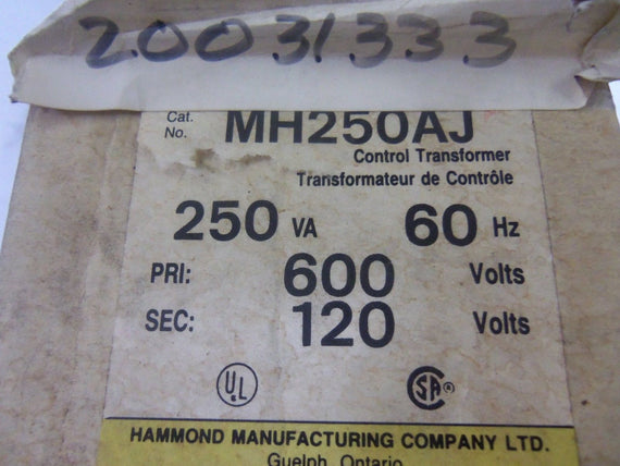 HAMMOND MH250AJ TRANSFORMER *NEW IN BOX*