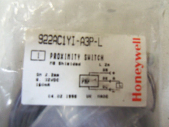 HONEYWELL 922AC1YI-A3P-L *NEW IN BAG*